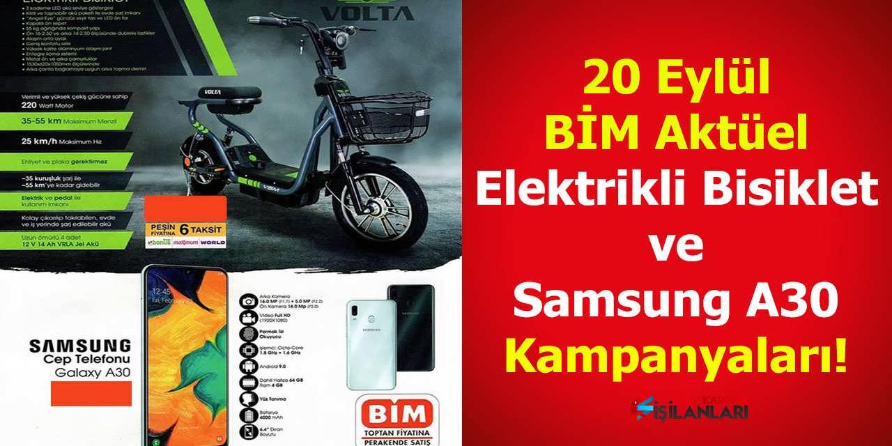 BİM Aktüel Elektrikli Bisiklet ve Samsung A30 Kampanyaları Damga Vurdu