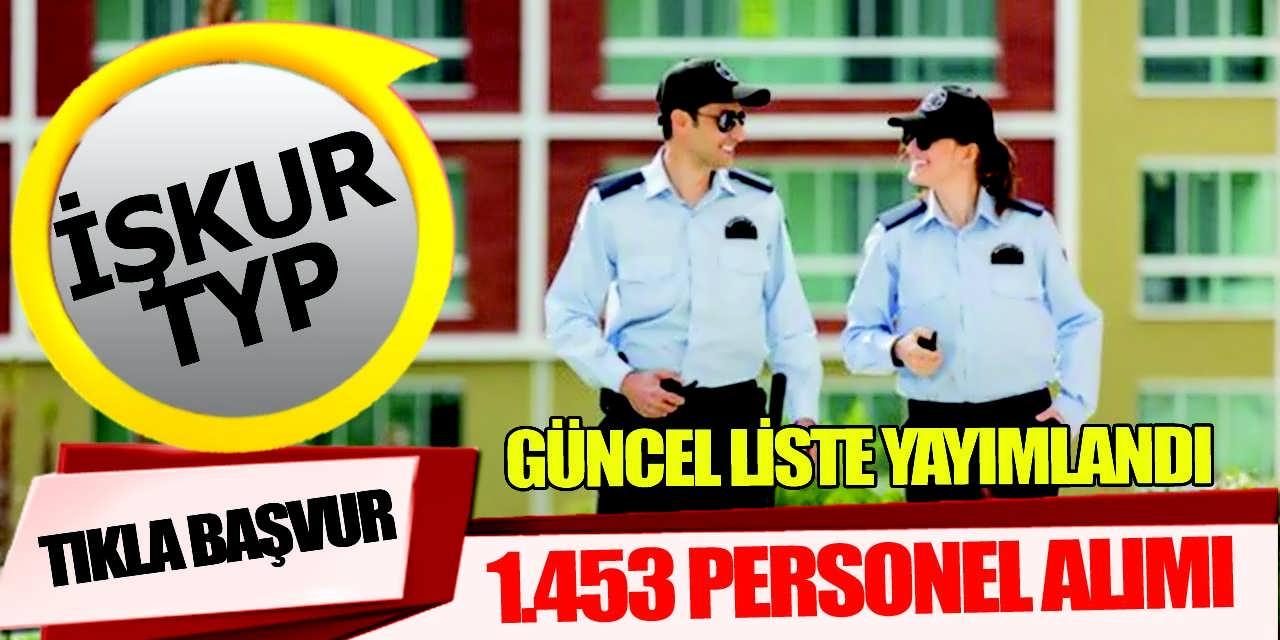 İŞKUR TYP Güncel Liste İle 1.453 Personel Alımı; MEB İŞKUR ilanları