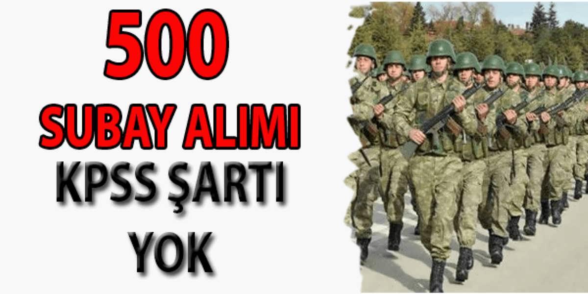 Jandarma Genel Komutanlığı 500 Subay Alımı