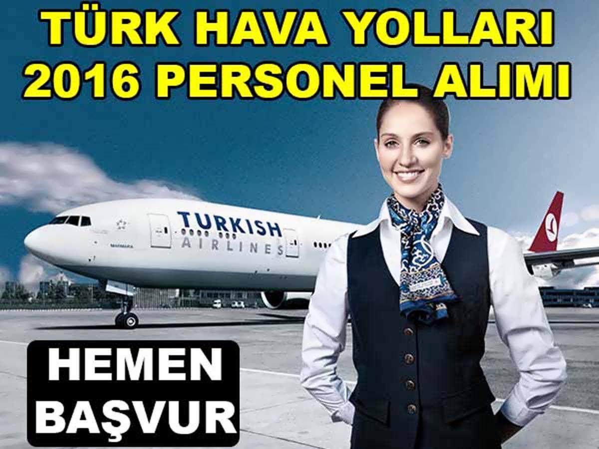 Türk Hava Yolları Personel Alımı 4 Mart 2016
