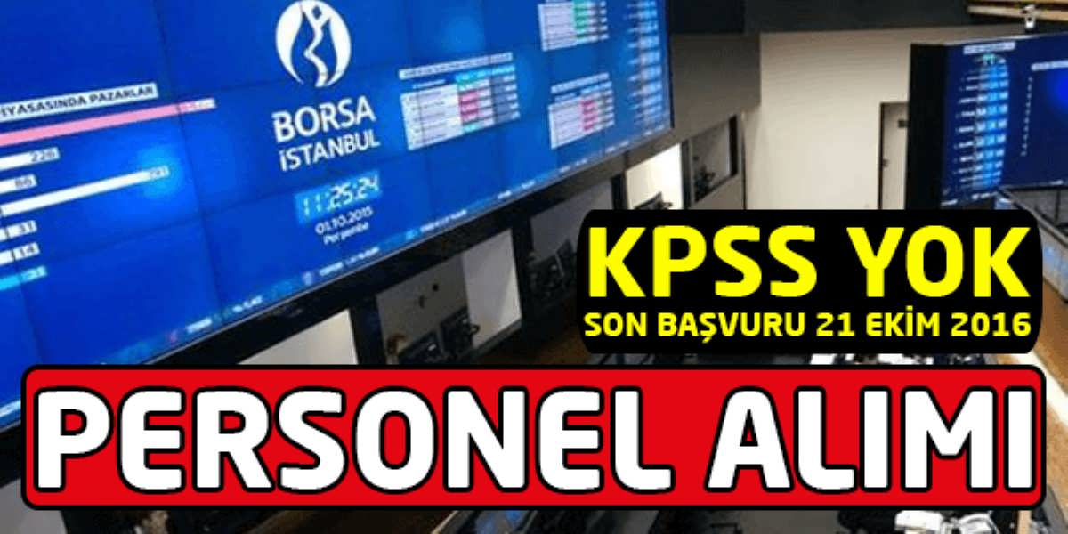 Borsa İstanbul Personel Alımı