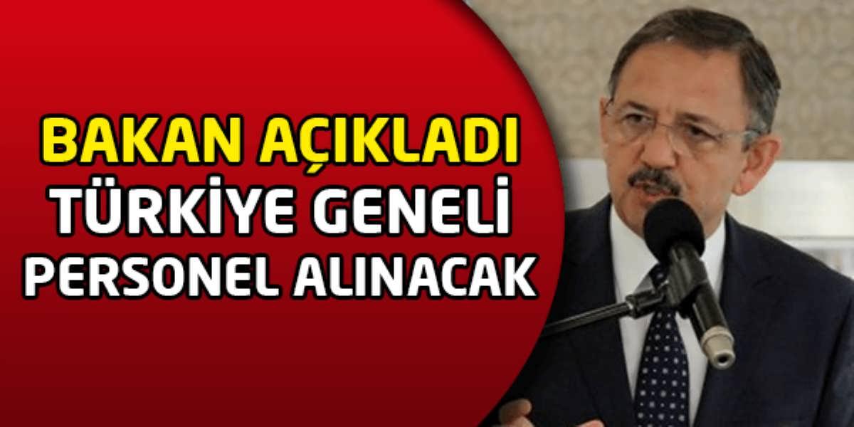 Bakan Açıkladı Türkiye Geneli Personel Alınacak