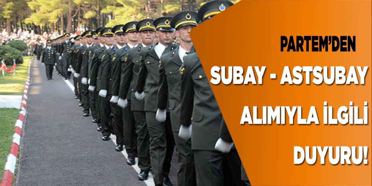 MSÜ Subay ve Astsubay Alım Duyurusu Yayımladı!