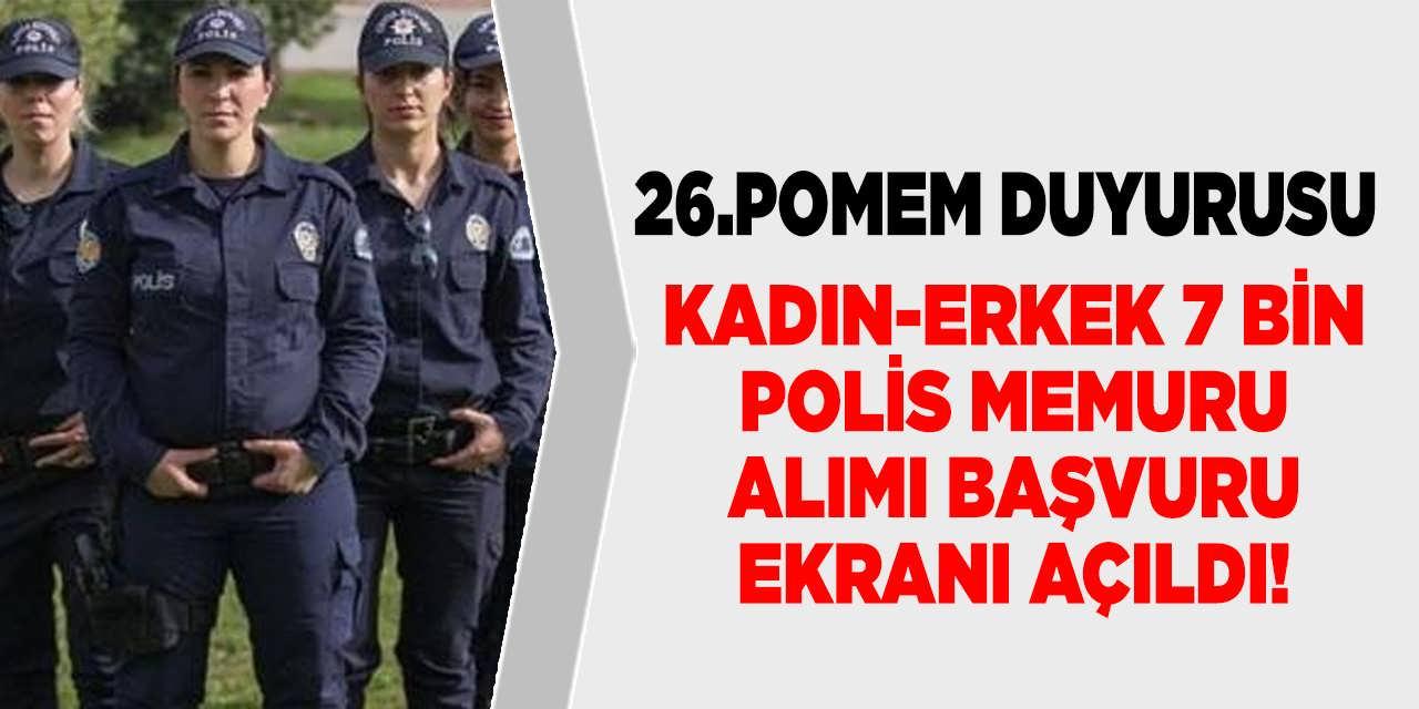 Polis Akademisi KPSS 60 İle 7 Bin Polis Alımı Başvuru Ekranı