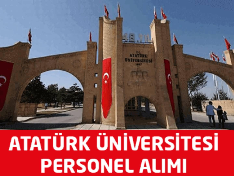 Atatürk Üniversitesi 6 Personel Alımı