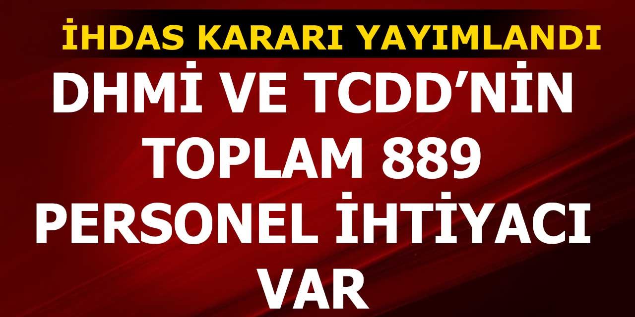 DHMİ ve TCDD'nin 889 Personel İhtiyacı Var