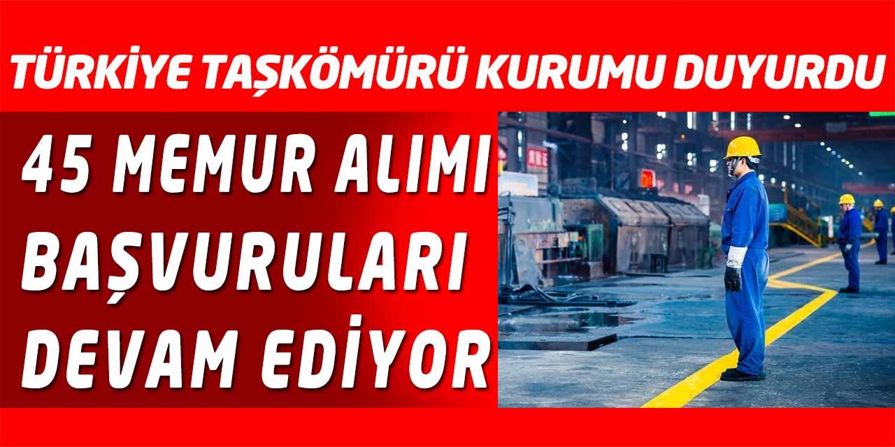 TTK KPSS Puan Sıralamasıyla 45 Memur Alıyor