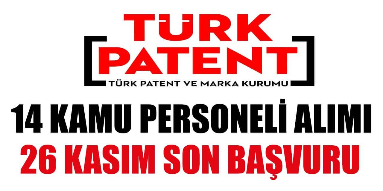Türk Patent ve Marka Kurumu 14 Kamu Personeli Alımı Yapılıyor