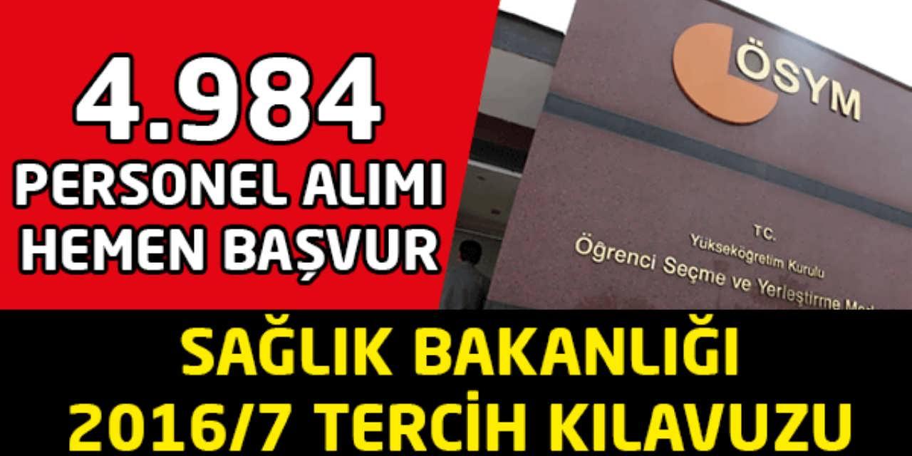 Sağlık Bakanlığı 4984 Personel Alımı Başvurusu