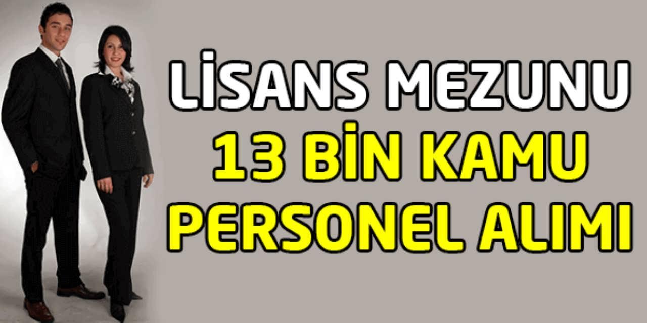 Lisans Mezunu 23 Bin Kamu Personel Alımı
