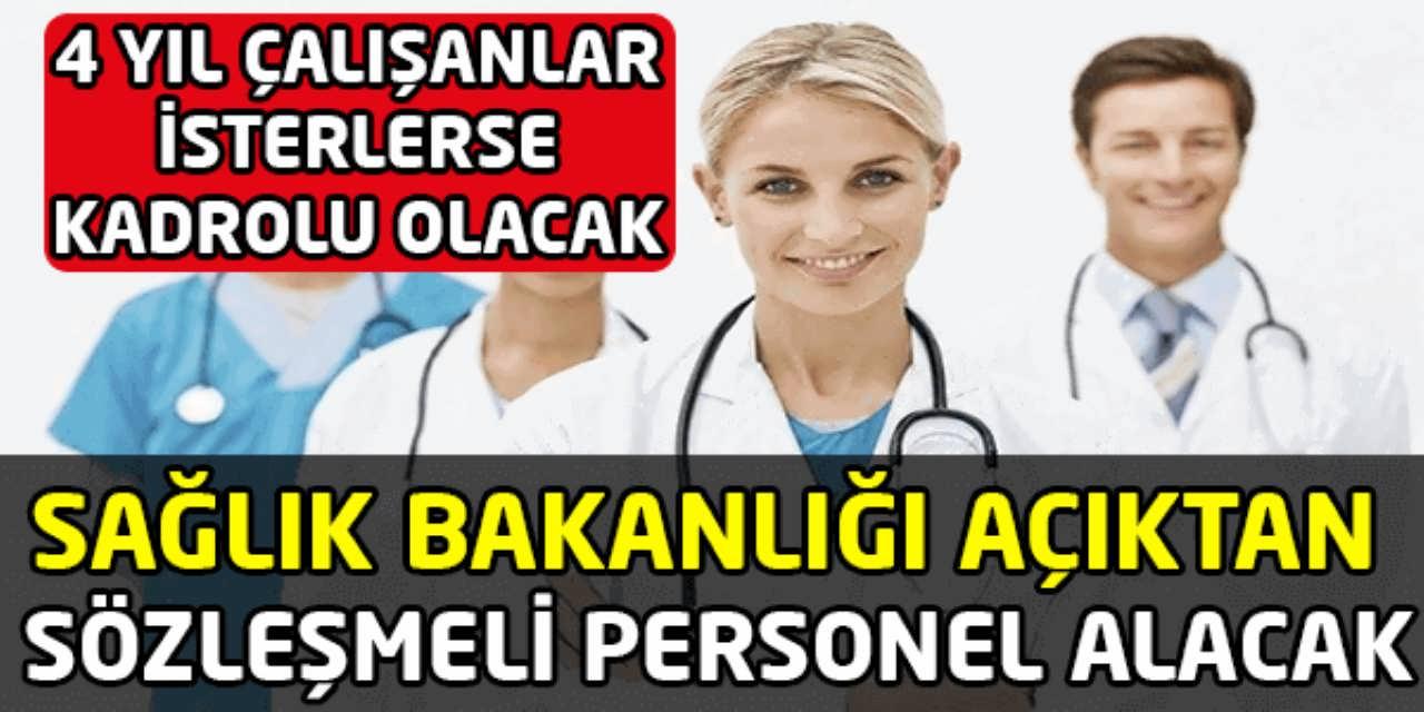 Sağlık Bakanlığı Açıktan Sözleşmeli Personel Alacak