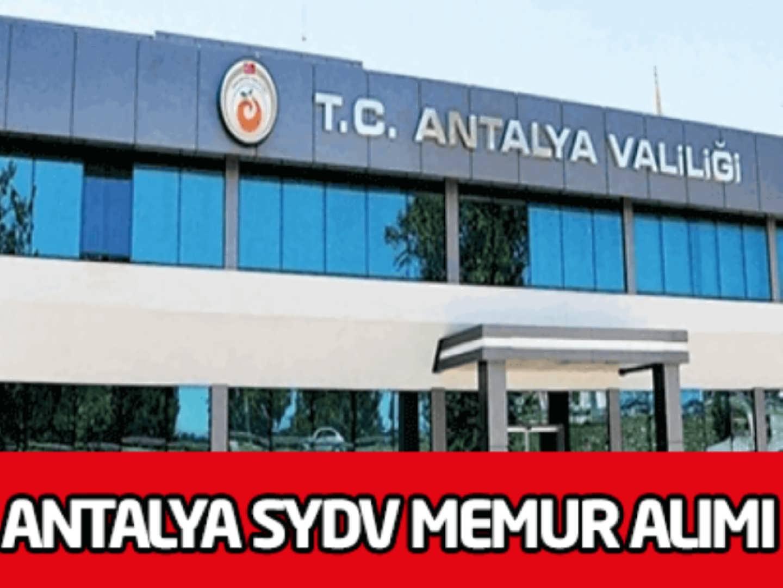 Antalya SYDV Memur Alımı