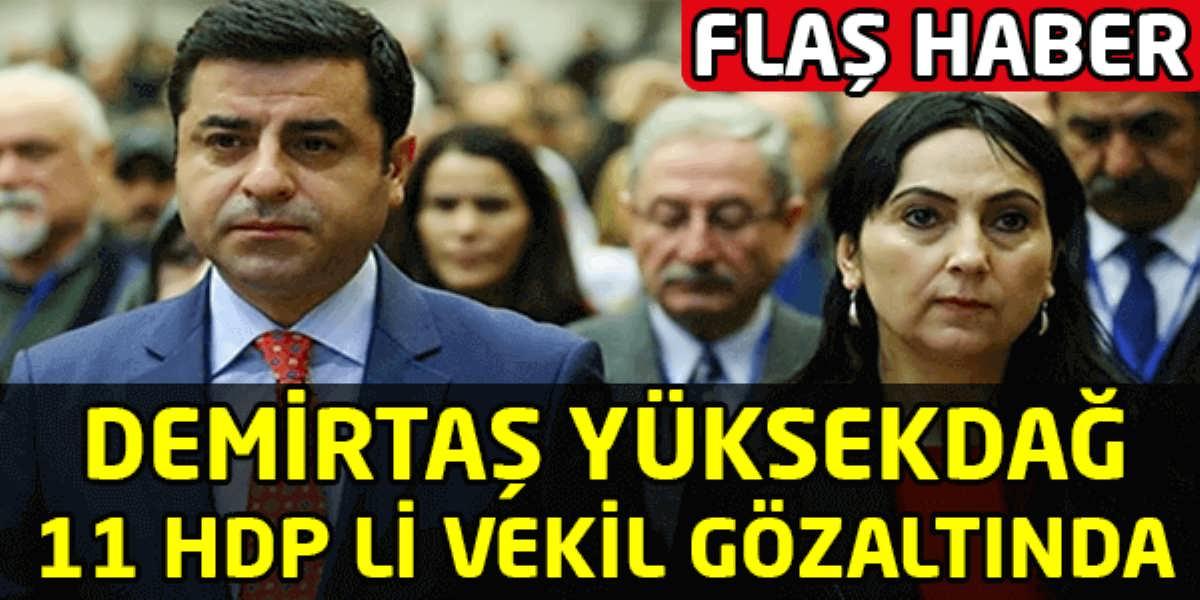Demirtaş, Yüksekdağ ve 11 HDP'li Gözaltında