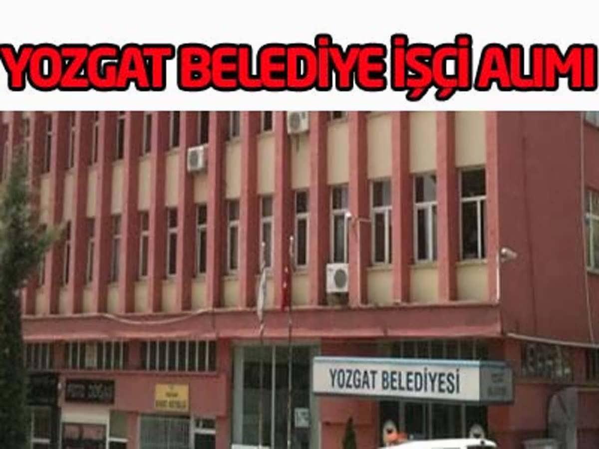 Yozgat Çandır Belediye Başkanlığı İşçi Alımı