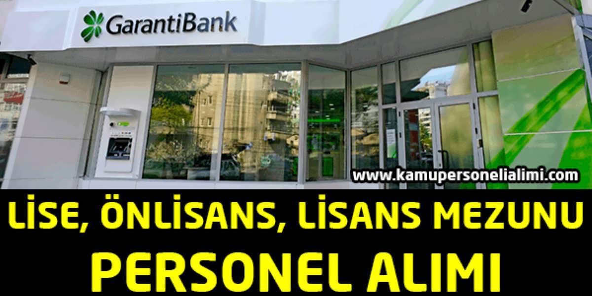Garanti Bankası Genel Personel Alımı Kasım 2016