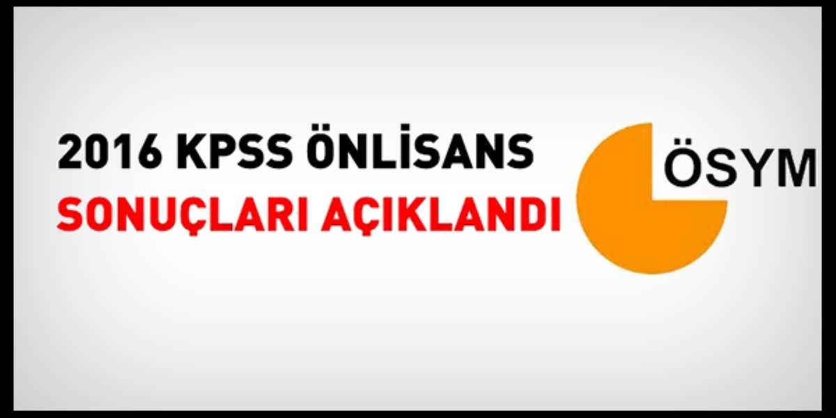 KPSS Önlisans Sınav Sonuçları Açıklandı