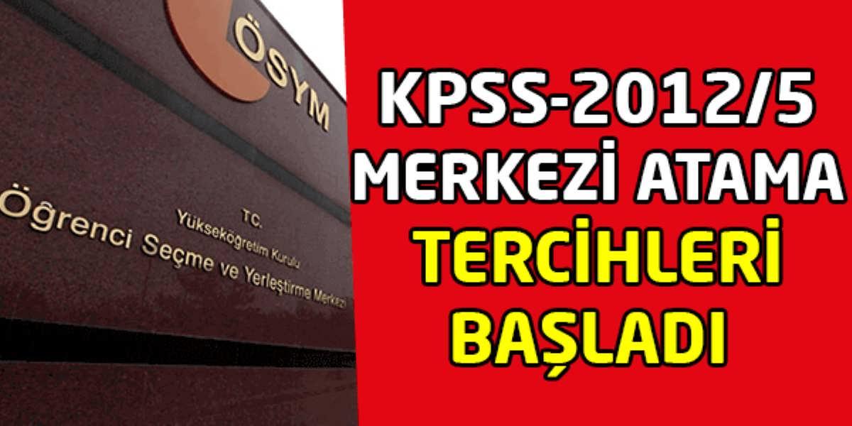 2012 Yılı KPSS Puanıyla Tercih İşlemi Başladı