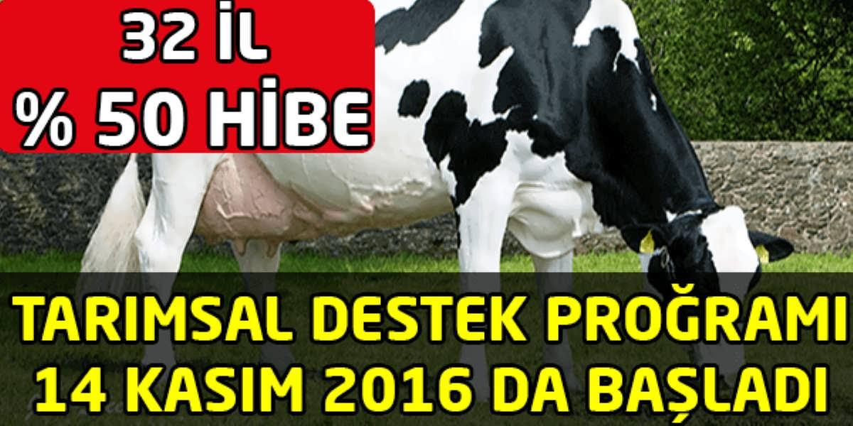 Tarımsal Destek Programı Başvuruları 14 Kasım 2016 da Başladı