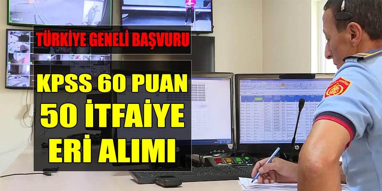 50 İtfaiye Eri Alımı Tekirdağ Büyükşehir Belediyesi Yapıyor! Türkiye Geneli Başvuru