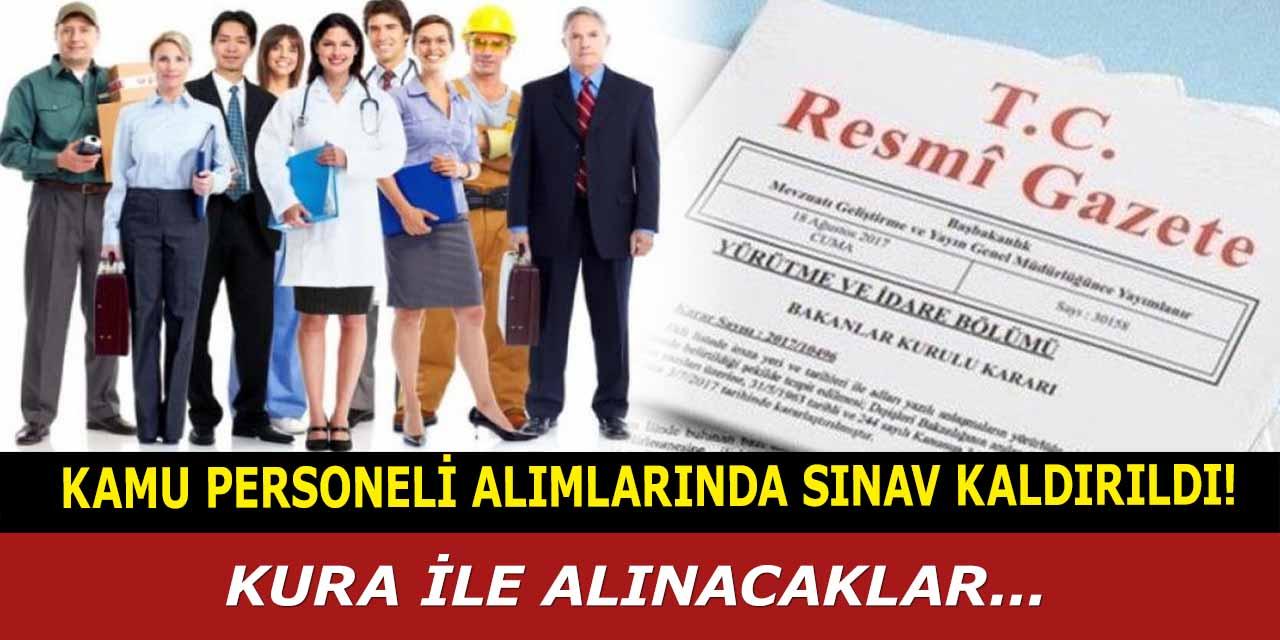 Kamu personeli alımlarında sınav kaldırıldı, Sağlık Bakanlığı kura ile alınacak