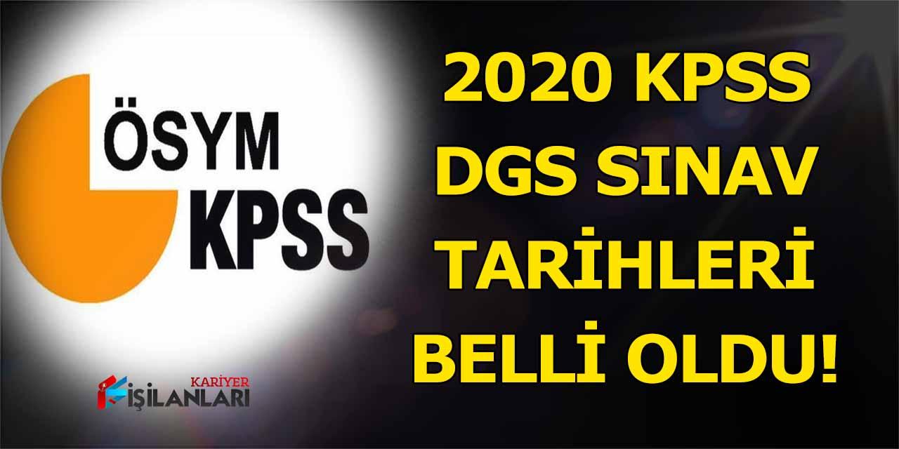 2020 KPSS sınav tarihleri belli oldu, ÖSYM resmen açıkladı