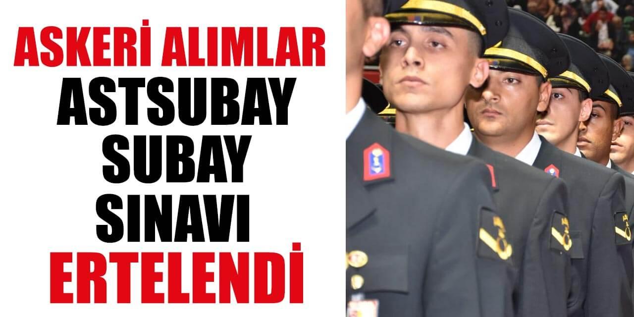 MSÜ Askeri Alımlar (Astsubay Subay) İçin Sınav Tarihi Ertelendi