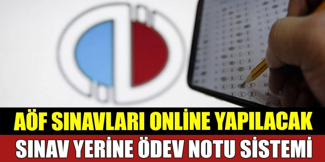 AÖF Sınavları Online Olarak Yapılacak