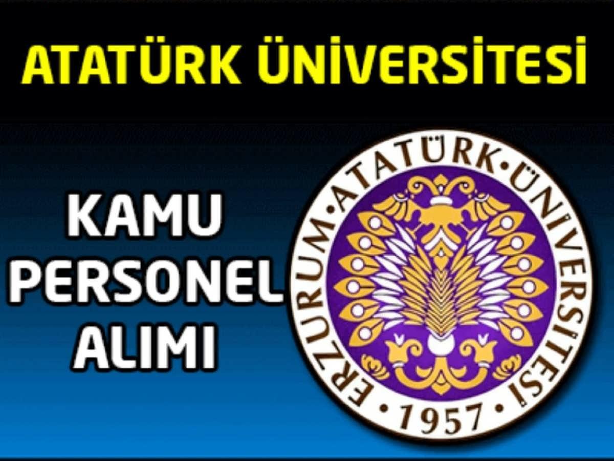 Atatürk Üniversitesi Kamu Personel Alımı