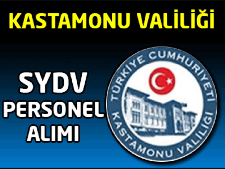 Kastamonu Hanönü SYDV Personel Alımı