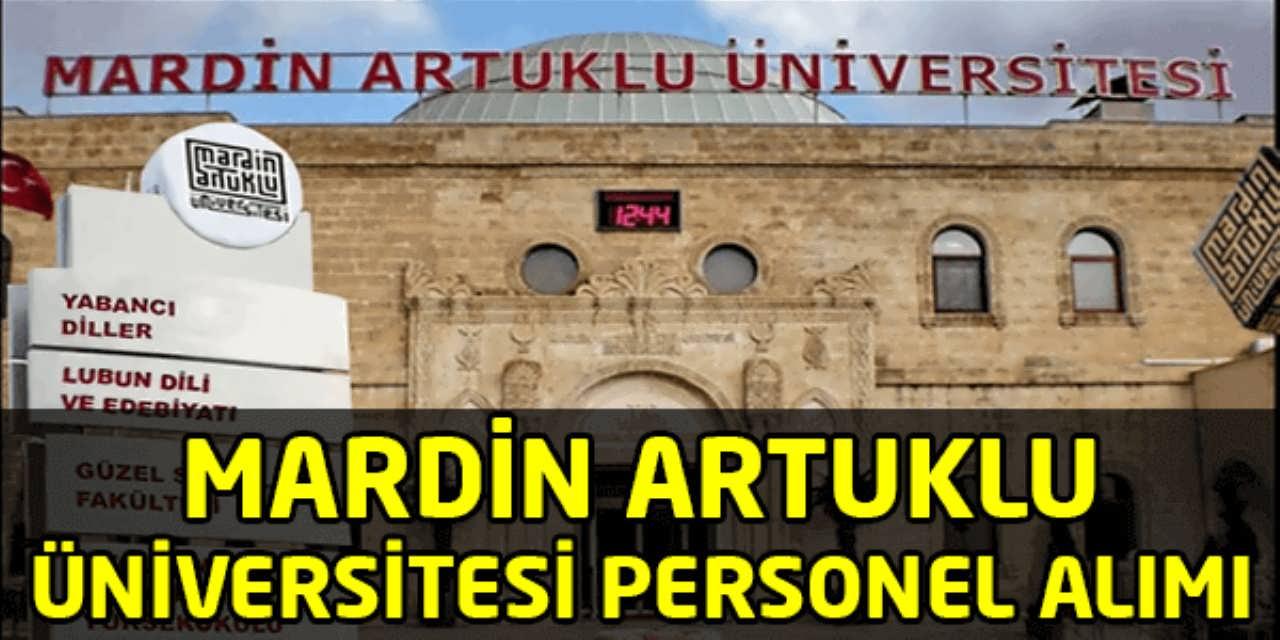 Mardin Artuklu Üniversitesi Personel Alım İlanı