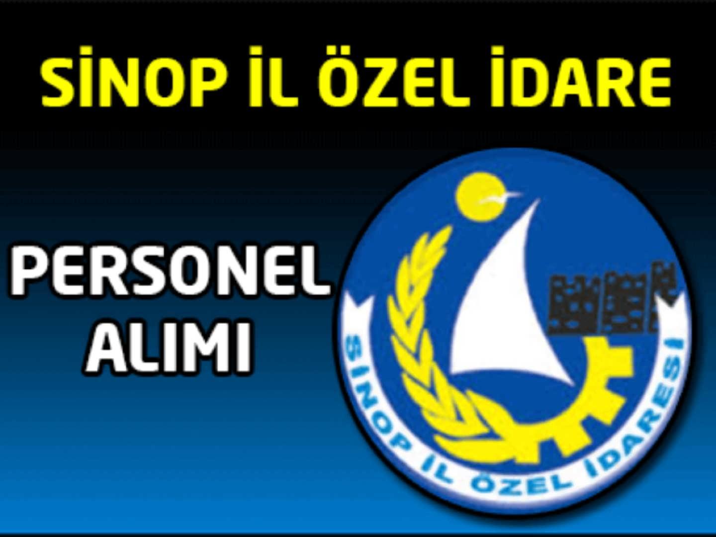 Sinop İl Özel İdaresi Personel Alımı