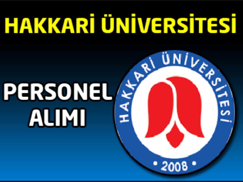 Hakkari Üniversitesi Personel Alım İlanı