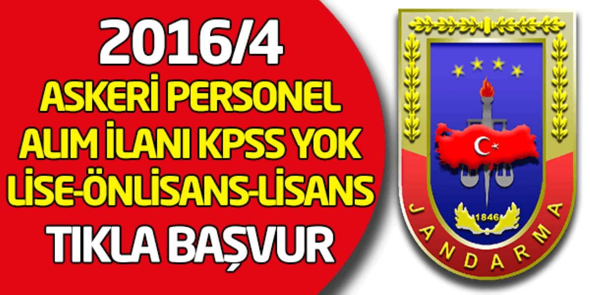 JGK 2016 Yılı 4 ncü Dönem Uzman Erbaş Alımı