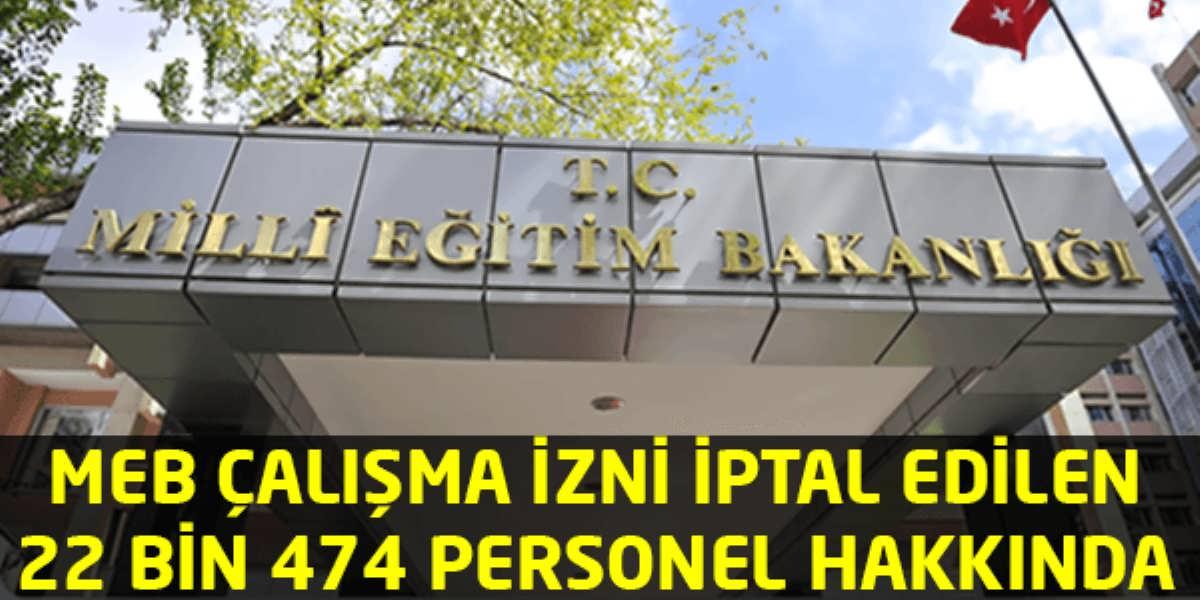 MEB 22 Bin 474 Personeli Hakkkında
