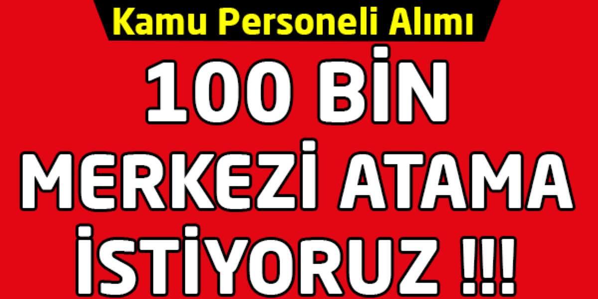 Adalet İçin 100 Bin Kamu Personel Alımı Yapılmalı