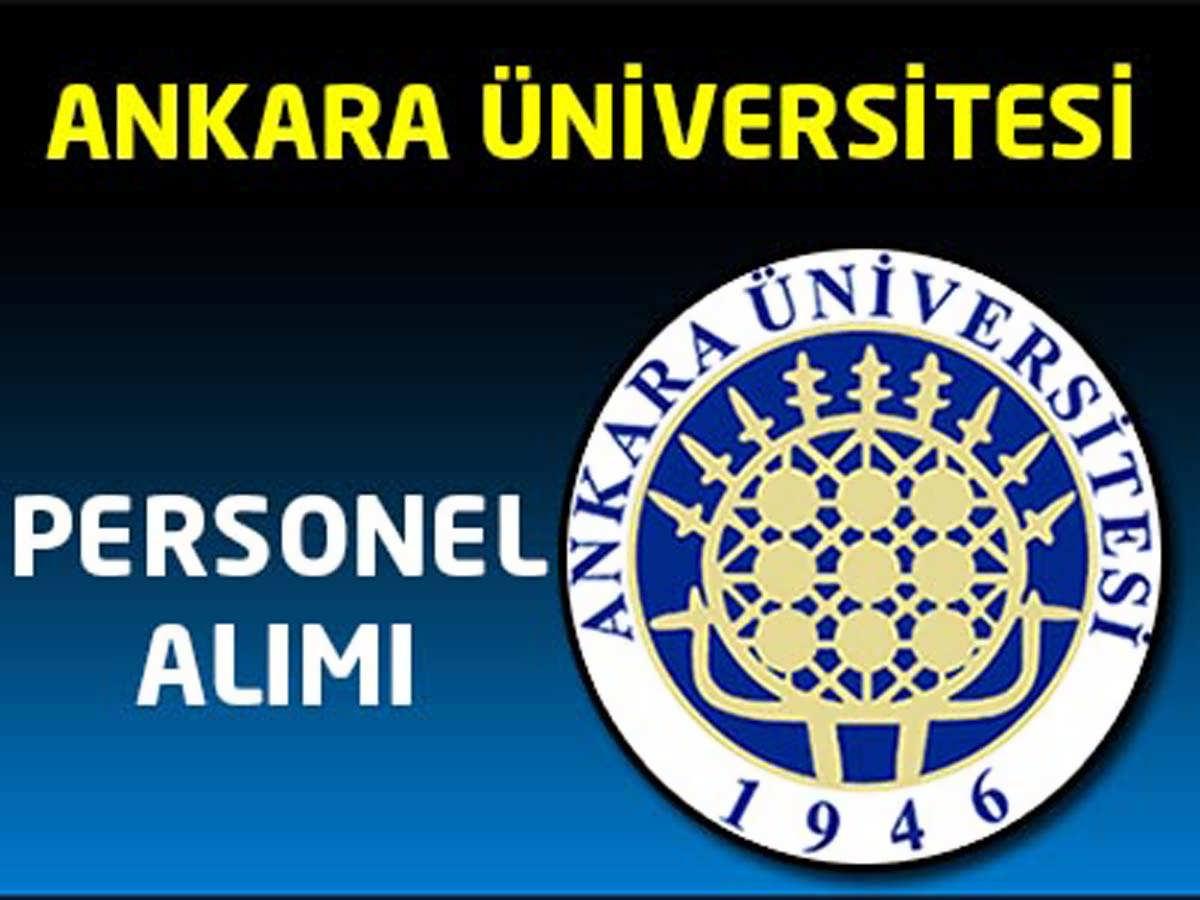Ankara Üniversitesi Rektörlüğü Personel Alımı