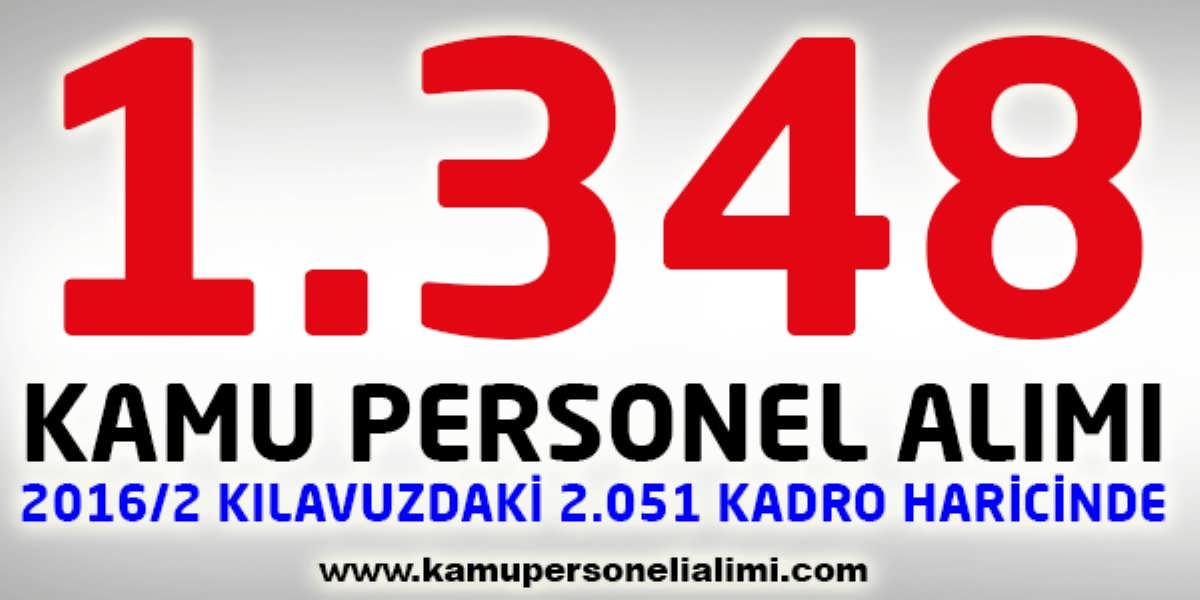 Açıktan Bin 348 Kamu Personel Alımı