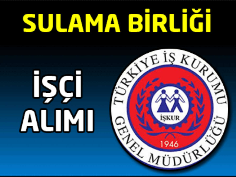 TEKTEK Sulama Birliği Başkanlığı İşçi Alımı