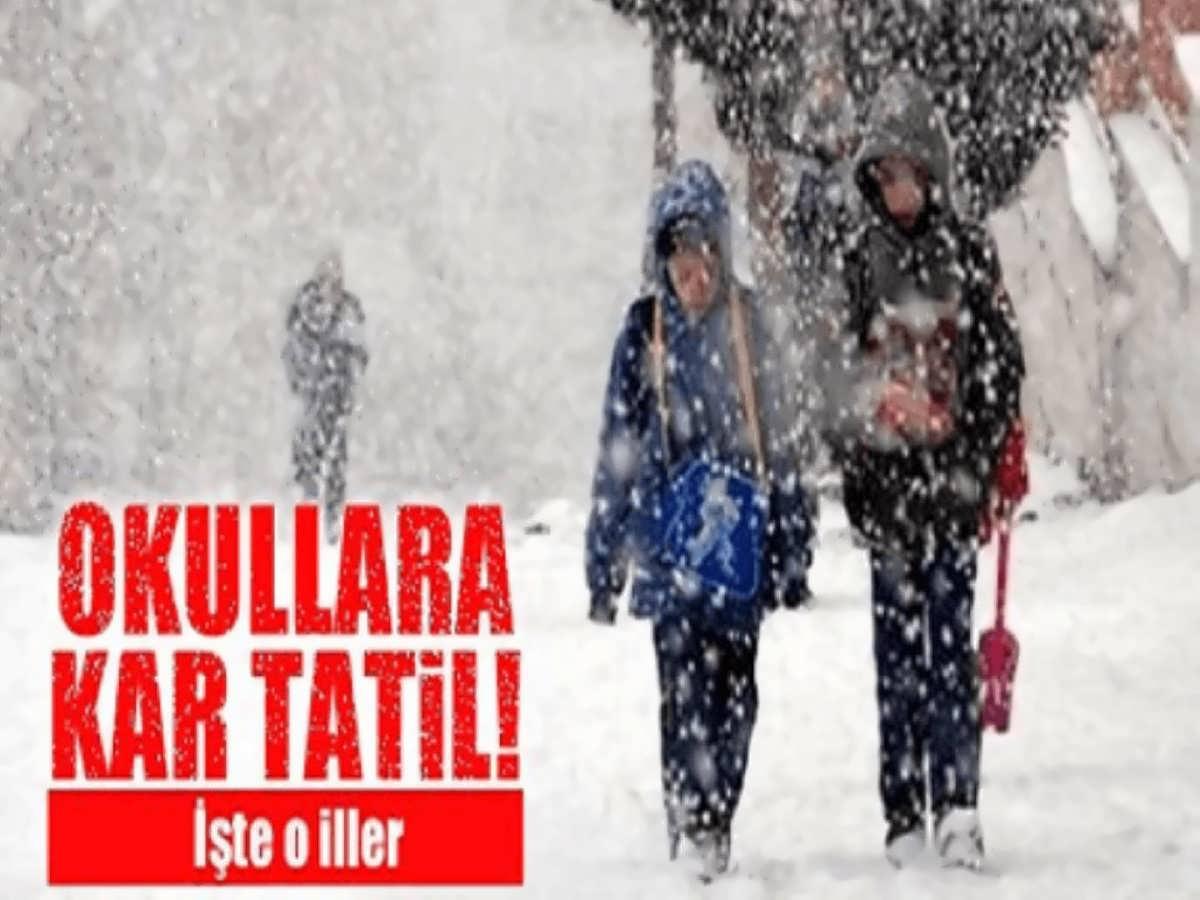 11 İL Yoğun Kar Yağışı Nedeniyle Tatil