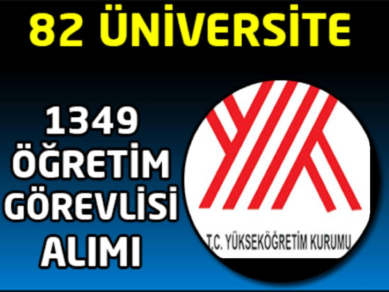 Devlet Üniversitelerine 1349 Öğretim Görevlisi Alımı