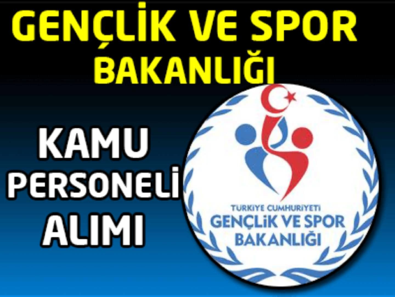 Gençlik ve Spor Bakanlığı 50 Kamu Personel Alımı