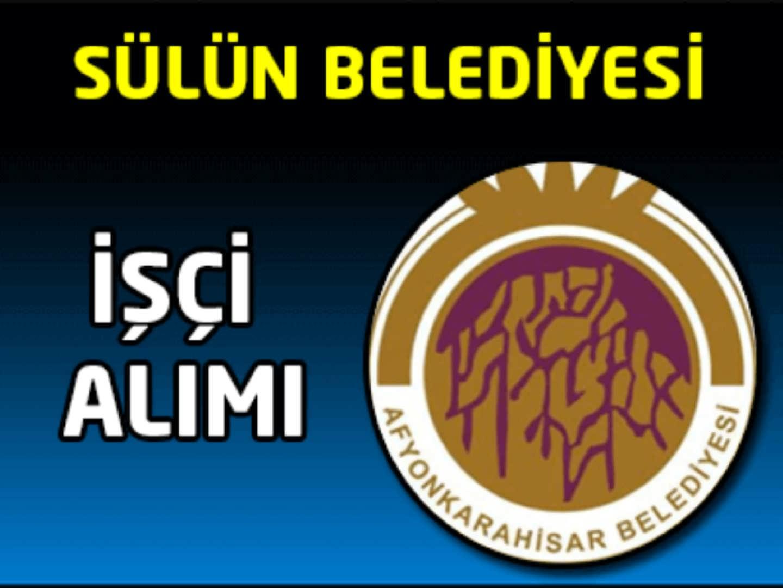 Afyonkarahisar Belediye Başkanlığı İşçi Alımı