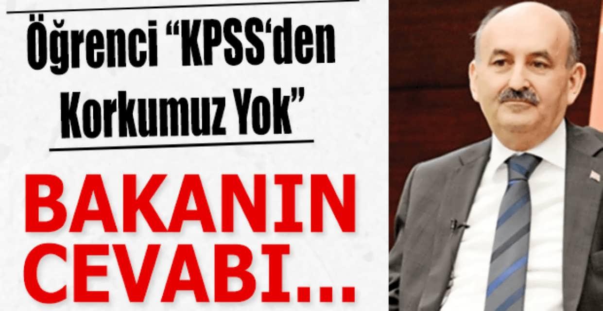 KPSS Mülakat Sorusuna Bakanın Cevabı