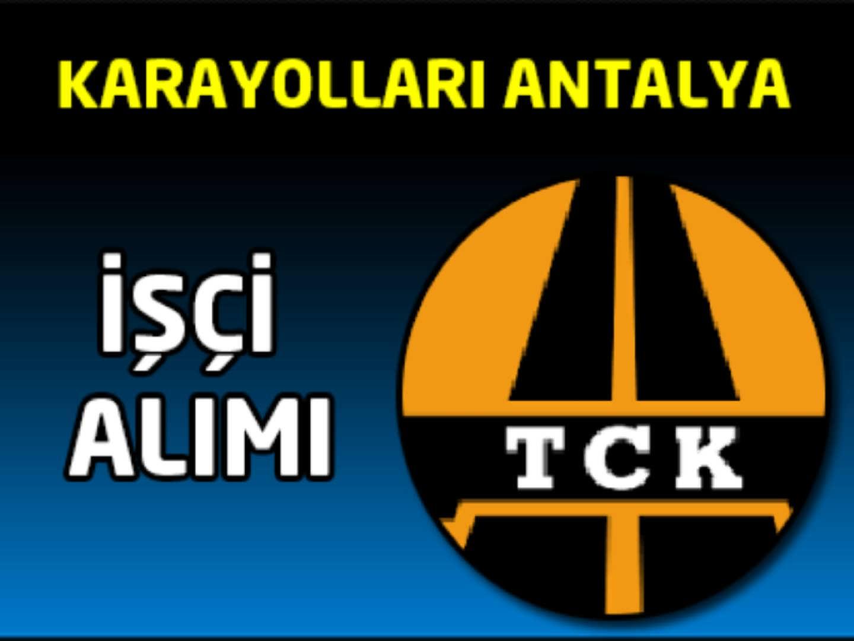 KGM Antalya İşçi Alımı