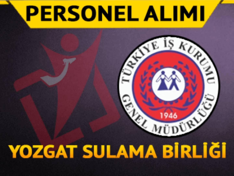 Yozgat Sulama Birliği İşçi Alımı