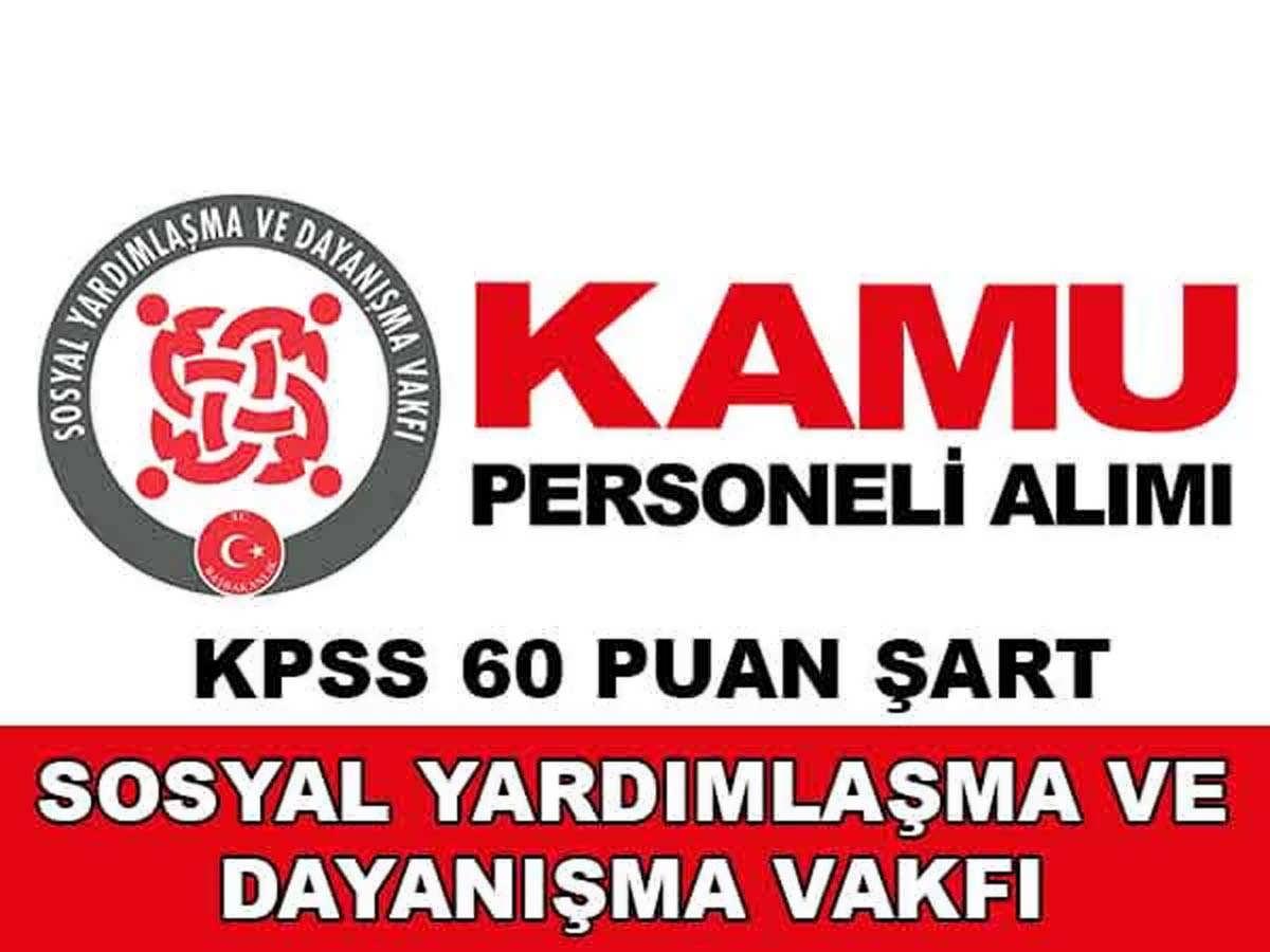 SYDV İzmir Konak Sosyal Yardım ve İnceleme Görevlisi Alımı 2016
