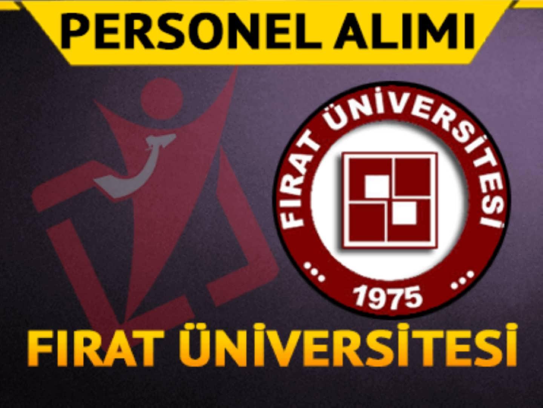 Fırat Üniversitesi Sağlık Personel Alımı