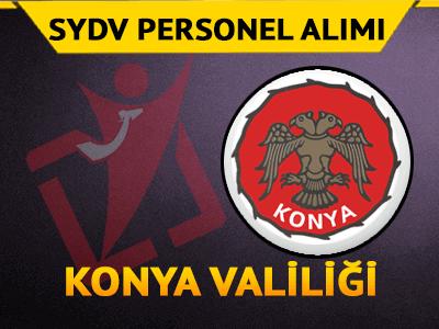 Konya SYDV Personel Alımı 2017