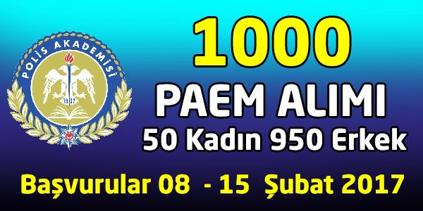 Polis Akademisi 1000 PAEM Alımı