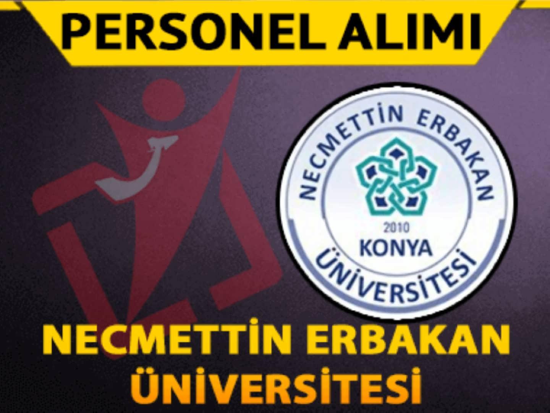 Necmettin Erbakan Üniversitesi 1 Personel Alımı